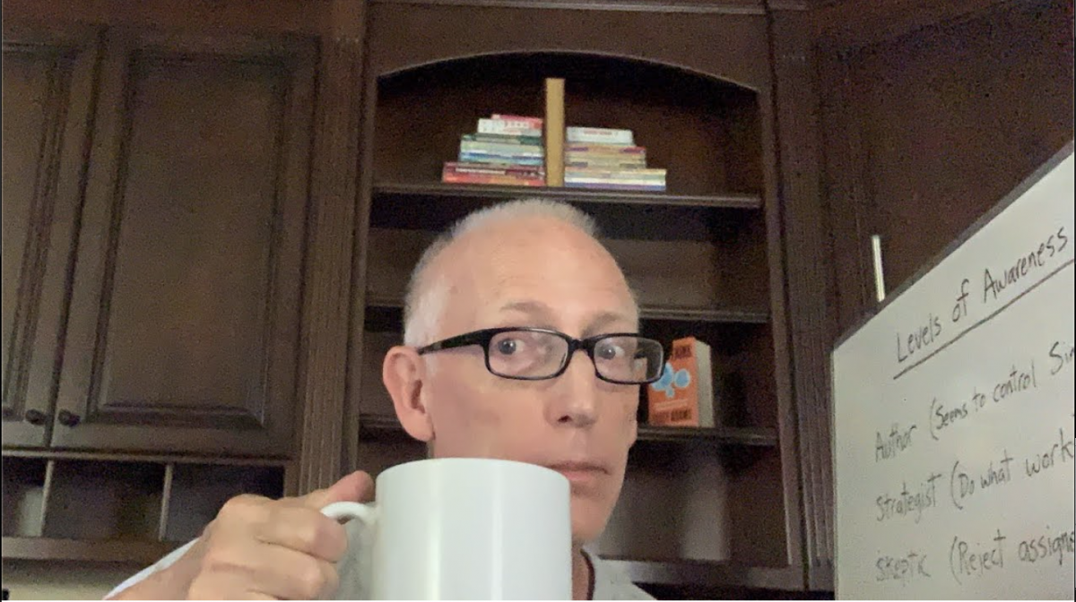 Episode 1414 Scott Adams: Find Out What Level of Awareness You Are at While Simultaneously Sipping